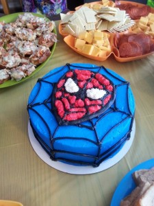Spiderman Birthday Cake!