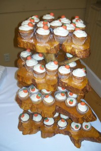 Wedding Cupcakes - Pumpkin, Carrot and Apple with Cream Cheese Frosting