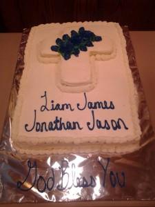 Full Sheet Baptism Cake!