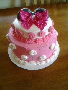 Minnie Mouse 2 Tiered Birthday Cake!