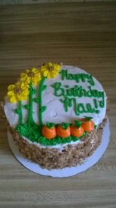 Carrot Cake with Sunflowers and Carrots!