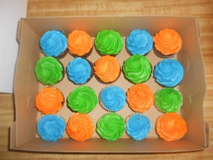 Colorful Birthday Cupcakes